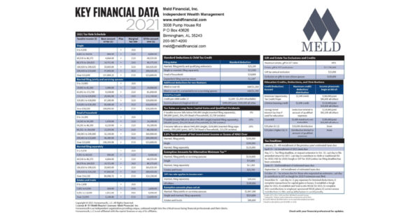 Key Financial Data for 2021 by Meld Financial - This image is a screenclip of the top of the 1st page of the pdf file
