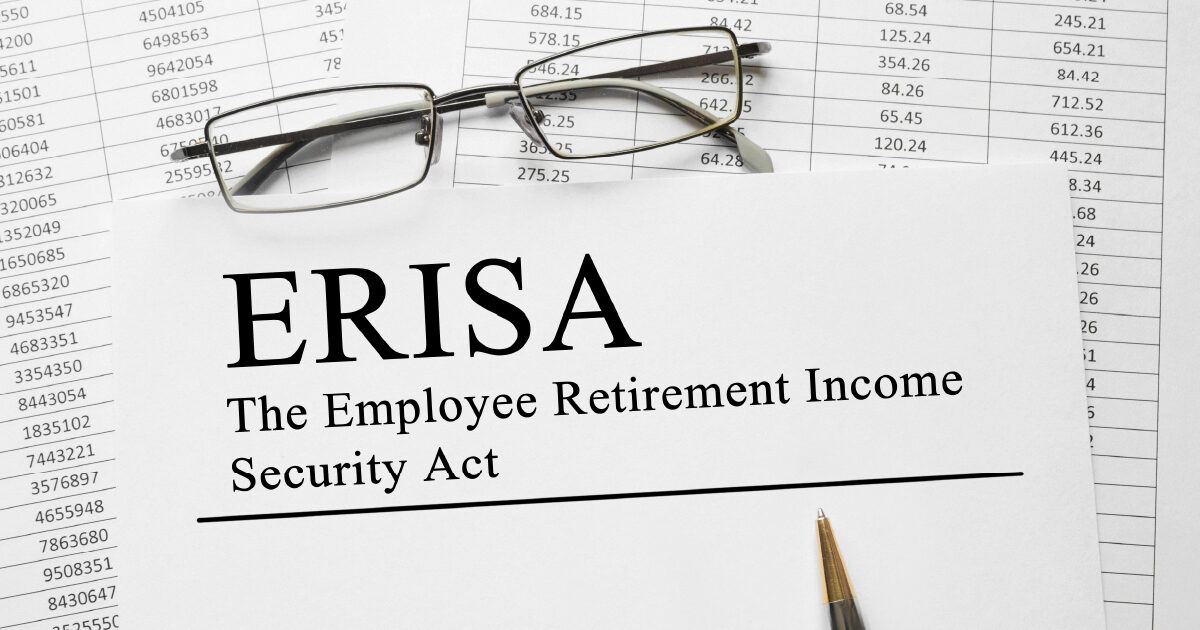 Papers with the following text: ERISA – The Employee Retirement Income Security Act